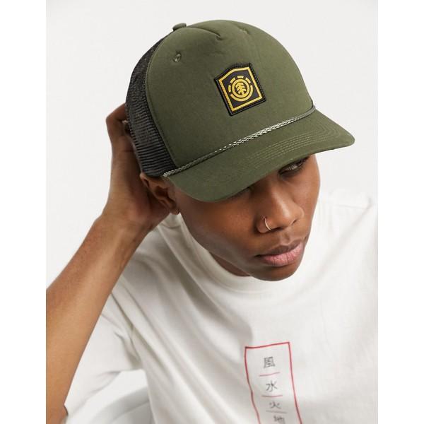 エレメント メンズ 帽子 アクセサリー Element Wolfeboro trucker cap in khaki 531 army