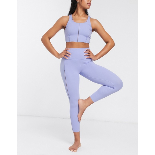 ナイキ レディース レギンス ボトムス Nike Yoga luxe leggings with stitch detail in lilac Purple