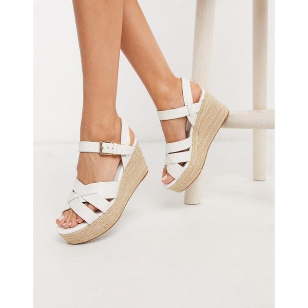 アルド レディース サンダル シューズ ALDO Meresha wedge espadrille sandals in white White