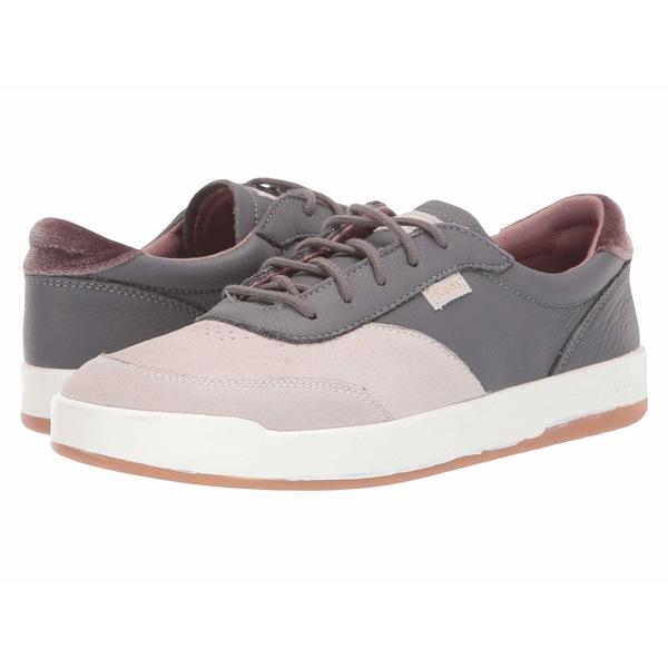 ケッズ レディース スニーカー シューズ Match Point Color Block Leather Gray Leather