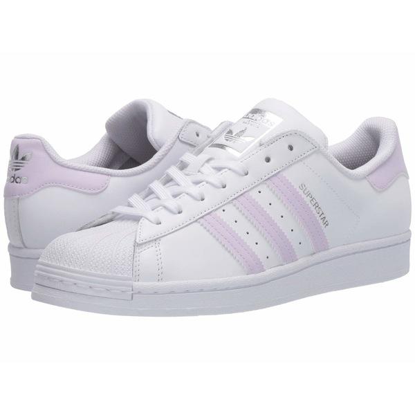 アディダスオリジナルス レディース スニーカー シューズ Superstar W Footwear White/Purple Tint/Silver Metallic