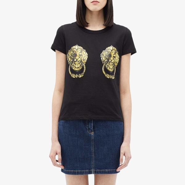 モスキーノ レディース シャツ トップス Lions T-Shirt Black