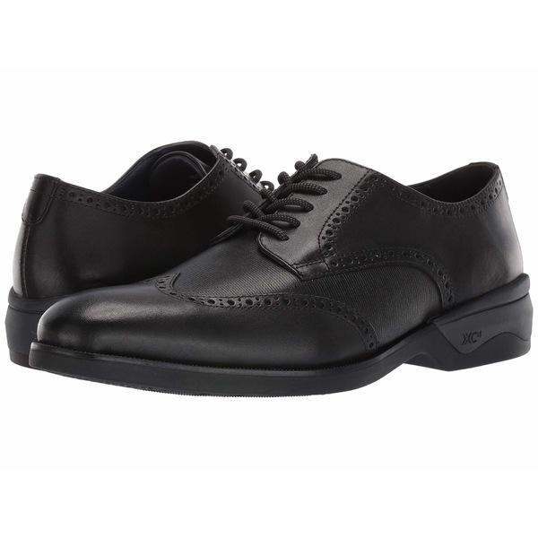 ジョンストンアンドマーフィー メンズ ドレスシューズ シューズ Waterproof XC4 Elkins Casual Wing Tip Oxford Black Leather