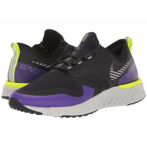 ナイキ レディース スニーカー シューズ Odyssey React 2 Shield Black/Metallic Silver/Voltage Purple