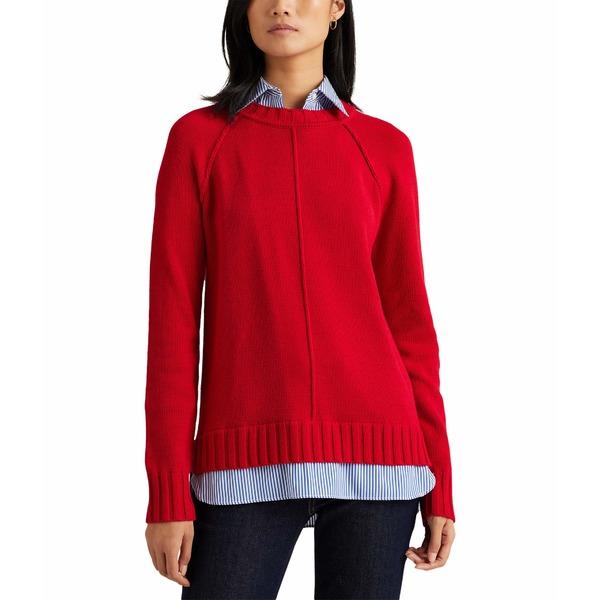 Lipstick アウター Sweater レディース Red ラルフローレン ニット&セーター Petite Layered Cotton