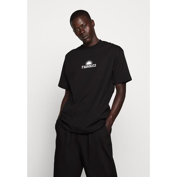 フィオルッチ メンズ トップス Tシャツ black タイムセール 全商品無料サイズ交換 T-shirt - 期間限定送料無料 Print TEE cvsb009d