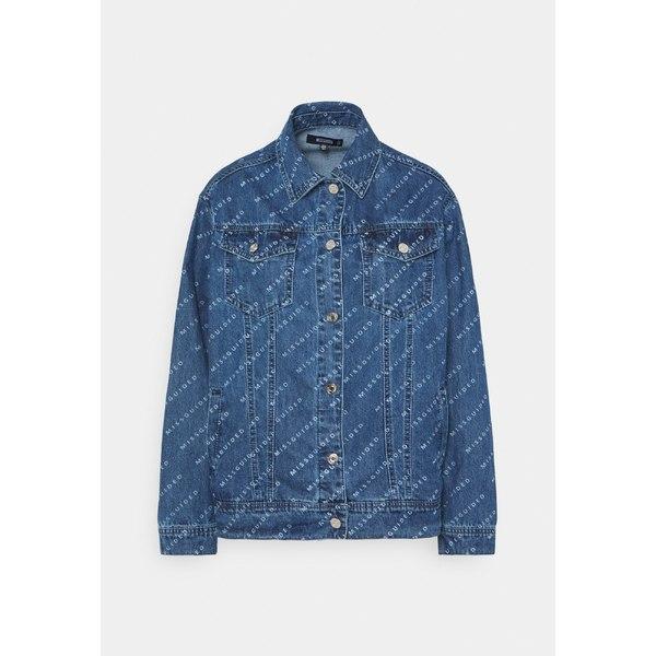 ミスガイデッド レディース アウター ジャケット ブルゾン 人気上昇中 blue 全商品無料サイズ交換 cvsb00a2 jacket - 別倉庫からの配送 PRINT JACKET Denim