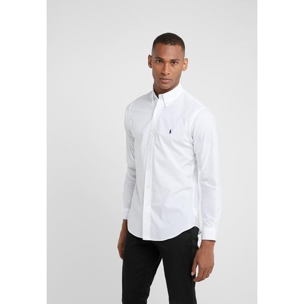 ラルフローレン メンズ トップス シャツ white 贈り物 全商品無料サイズ交換 FIT WEB限定 cvsb00a5 SLIM Shirt - NATURAL