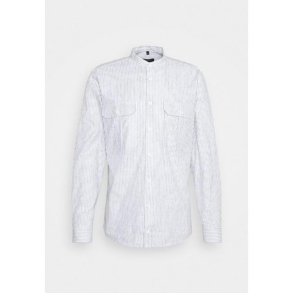 ブルンスバザー メンズ トップス シャツ grey mist 全商品無料サイズ交換 CHINA RALF Shirt - 中古 全品最安値に挑戦 STRIBED cvsb00a9