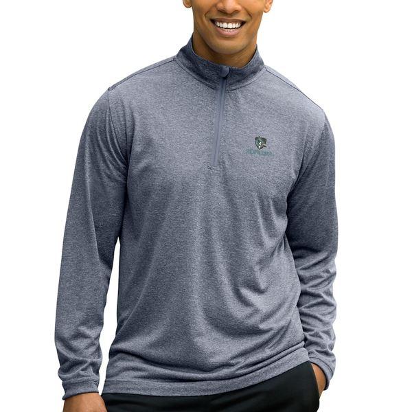 ビンテージアパレル メンズ ジャケット&ブルゾン アウター Johns Hopkins Blue Jays Mesh Tech 1/4-Zip Pullover Sweater Charcoal