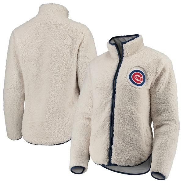 フォコ レディース ジャケット&ブルゾン アウター Chicago Cubs Women's Sherpa Full-Zip Jacket White