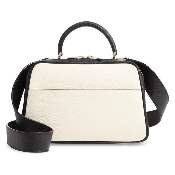 ヴァレクストラ レディース ハンドバッグ バッグ Valextra Medium Serie S Leather Top Handle Bag White/ Black