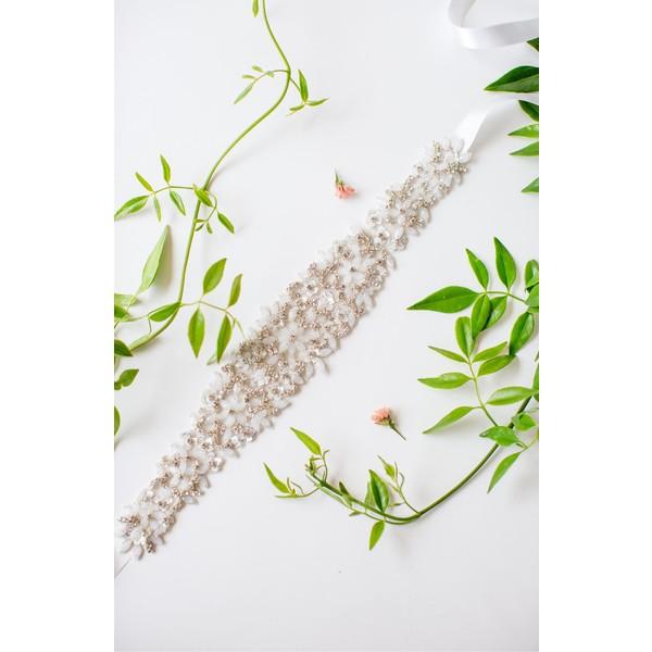 アンテームド・ペタルズ レディース ベルト アクセサリー Untamed Petals by Amanda Judge Kindred Bead & Crystal Belt Silver