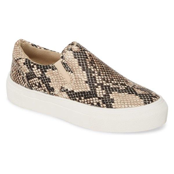 ココナッツバイマッテシィ レディース スニーカー シューズ Coconuts by Matisse Gradient Slip-On Sneaker (Women) Natural Snake Print