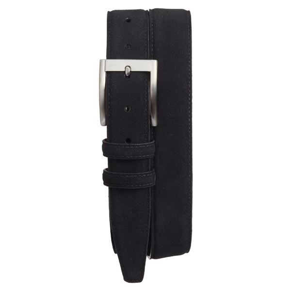トリノ メンズ ベルト アクセサリー Torino Suede Belt Black