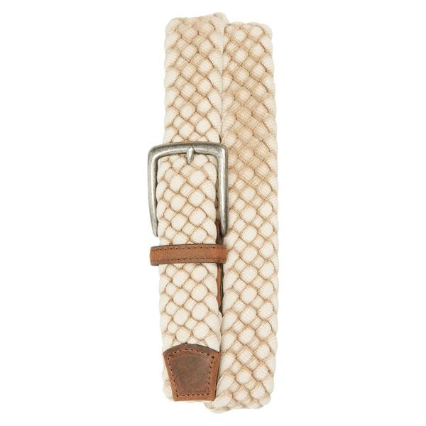 トリノ メンズ ベルト アクセサリー Torino Woven Cotton Belt Cream