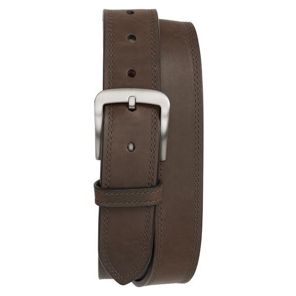 シャイノーラ メンズ ベルト アクセサリー Shinola Double Stitch Leather Belt Charcoal