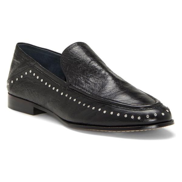 ヴィンスカムート レディース サンダル シューズ Vince Camuto Jendeya Convertible Studded Loafer (Women) Black Leather