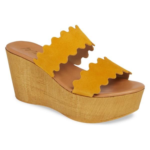 マチス レディース サンダル シューズ Matisse Charlie Slide Sandal (Women) Yellow