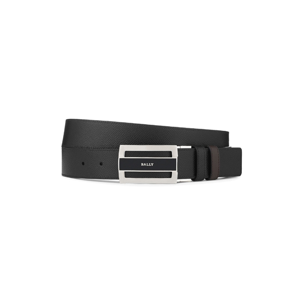 バリー メンズ ベルト アクセサリー Bally Fabazia Reversible Leather Belt Black