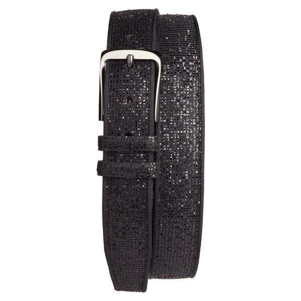 メズラン メンズ ベルト アクセサリー Mezlan Ines Leather Belt Black