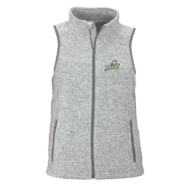 ビンテージアパレル レディース ジャケット&ブルゾン アウター Florida Gulf Coast Eagles Women's Summit Fleece Full Zip Sweater Vest Heather Gray