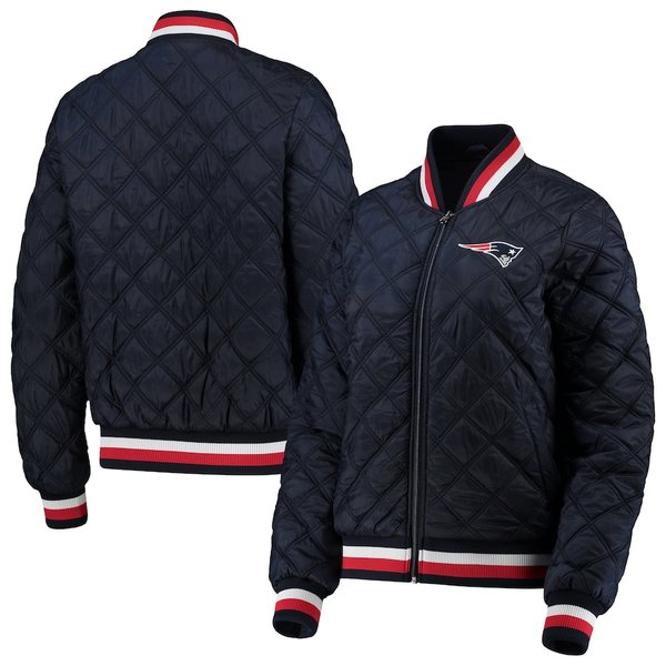 カールバンクス レディース ジャケット&ブルゾン アウター New England Patriots G-III 4Her by Carl Banks Women's Goal Line Quilted Bomber Full-Zip Jacket Navy