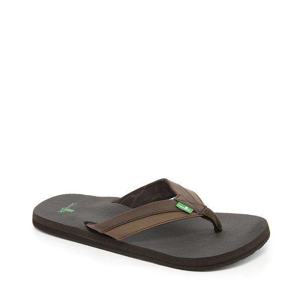 Sanuk BLACK Men/'s Beer Cozy Flip Flops Sandals NEW Size 8 10 11 12 9 13
