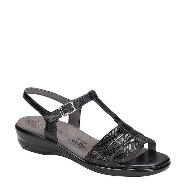 エスエーエス レディース サンダル シューズ Capri Comfort Sandal Black Snake