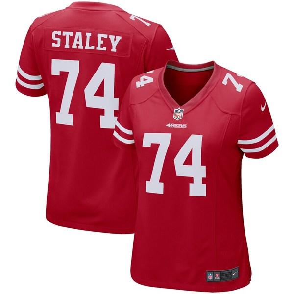 ナイキ レディース シャツ トップス Joe Staley San Francisco 49ers Nike Women's Game Player Jersey Scarlet