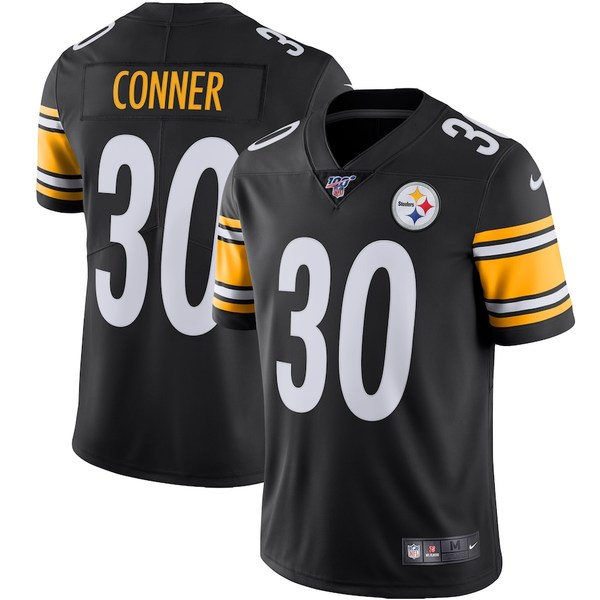 ナイキ メンズ シャツ トップス James Conner Pittsburgh Steelers Nike NFL 100 Vapor Limited Jersey Black