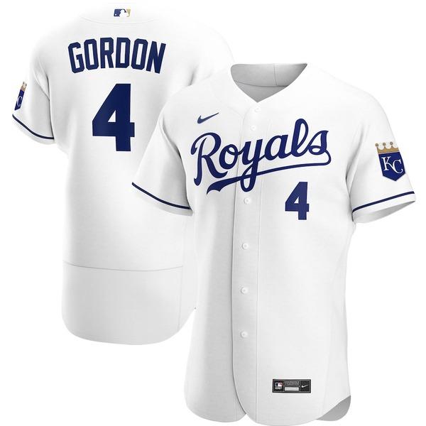 ナイキ メンズ シャツ トップス Alex Gordon Kansas City Royals Nike Home 2020 Authentic Player Jersey White