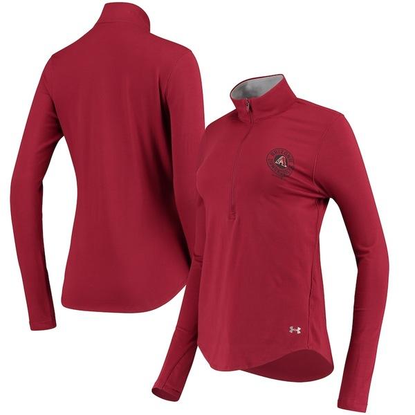 アンダーアーマー レディース ジャケット&ブルゾン アウター Arizona Diamondbacks Under Armour Women's Charged Cotton Half-Zip Pullover Jacket Cardinal