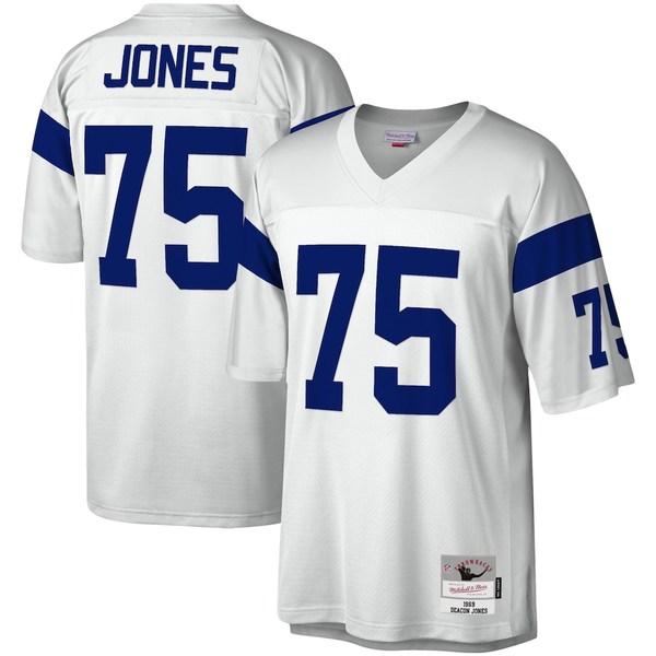 ミッチェル&ネス メンズ シャツ トップス Deacon Jones Los Angeles Rams Mitchell & Ness Legacy Replica Jersey White