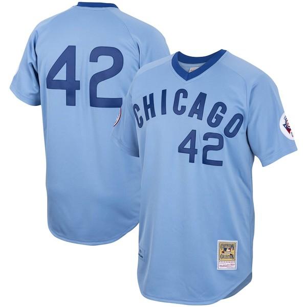 ミッチェル&ネス メンズ シャツ トップス Bruce Sutter Chicago Cubs Mitchell & Ness Road 1976 Cooperstown Collection Authentic Jersey Light Blue
