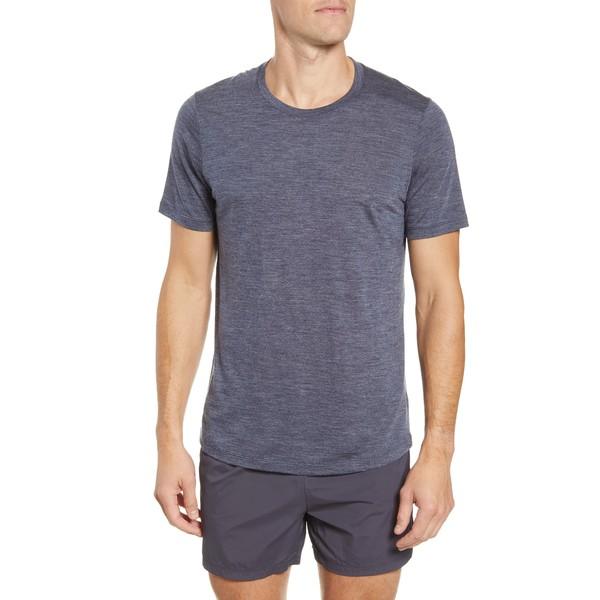 アイスブレーカー メンズ シャツ トップス Cool-Lite Sphere Runner's T-Shirt Midnight Navy Heather/ Navy