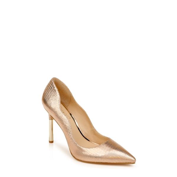 ジュウェルダグレイミシュカ レディース パンプス シューズ Riley Glitter Pointed Toe Pump Rose Gold Faux Leather