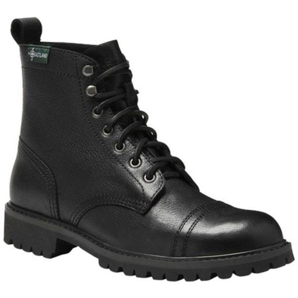 イーストランド メンズ シューズ ブーツ 新品 レインブーツ Black Leather Boot Men's Cap Ethan お気に入り 全商品無料サイズ交換 Toe 1955