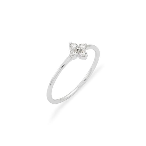 ボニー レヴィ レディース リング アクセサリー Getty Diamond Flower Ring Diamond/ White Gold