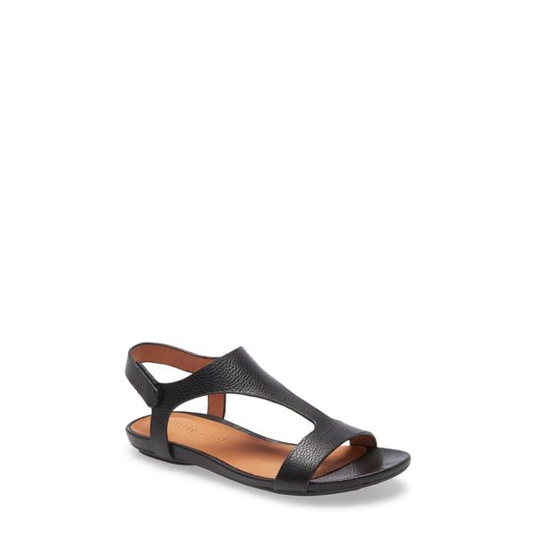 ケネスコール レディース サンダル シューズ Lark T-Strap Sandal Black Leather