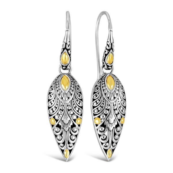 デヴァタ レディース アクセサリー ピアス イヤリング STERLING 売却 SILVER WITH 18K Earrings Sterling 全商品無料サイズ交換 ACCENTS Gold Accent GOLD 低価格化 Silver Drop