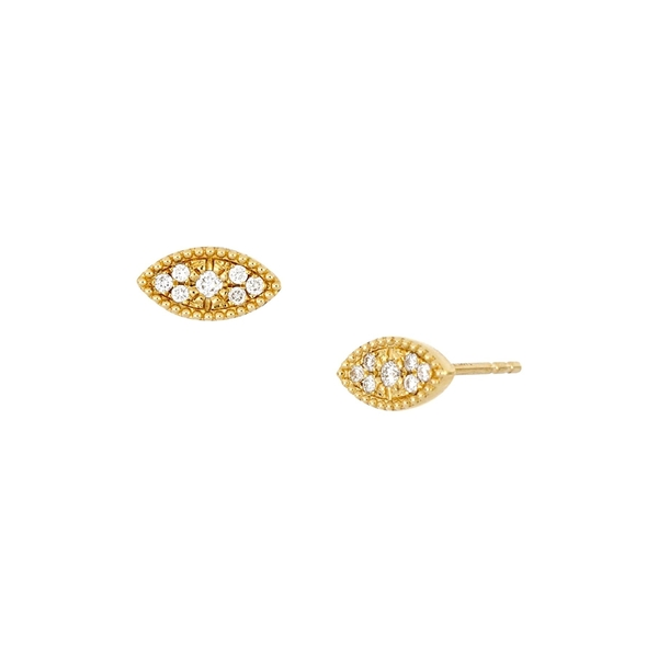 ボニー レヴィ レディース アクセサリー ピアス イヤリング 人気 RD0.13 18KYG 全商品無料サイズ交換 18K Yellow Evil Stud Gold Pave - ctw Diamond Earrings Eye 注目ブランド 0.12