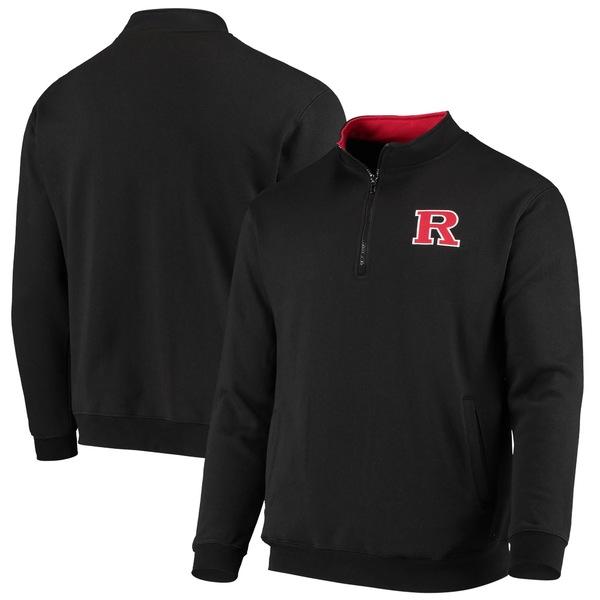 コロシアム メンズ ジャケット&ブルゾン アウター Rutgers Scarlet Knights Colosseum Tortugas Logo QuarterZip Jacket White
