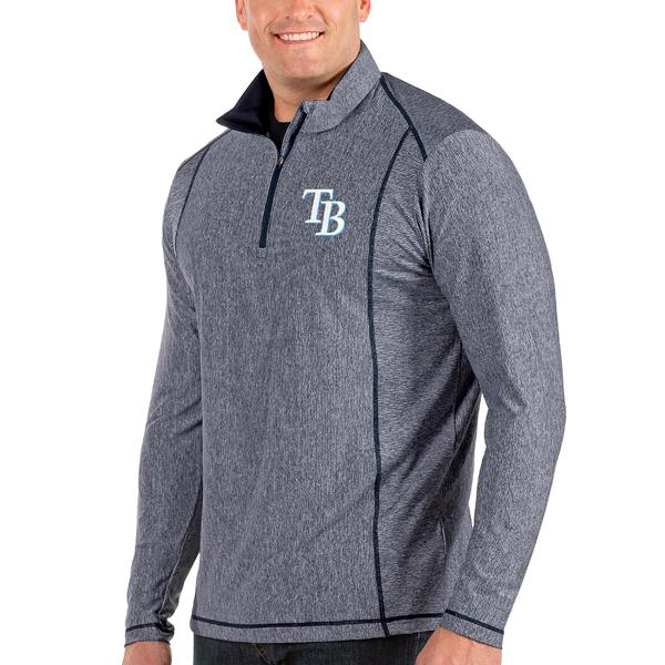 アンティグア メンズ ジャケット&ブルゾン アウター Tampa Bay Rays Antigua Tempo Big & Tall HalfZip Pullover Jacket Heather Gray
