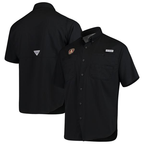 コロンビア メンズ シャツ トップス Atlanta United FC Columbia Tamiami Performance ButtonUp Shirt Black