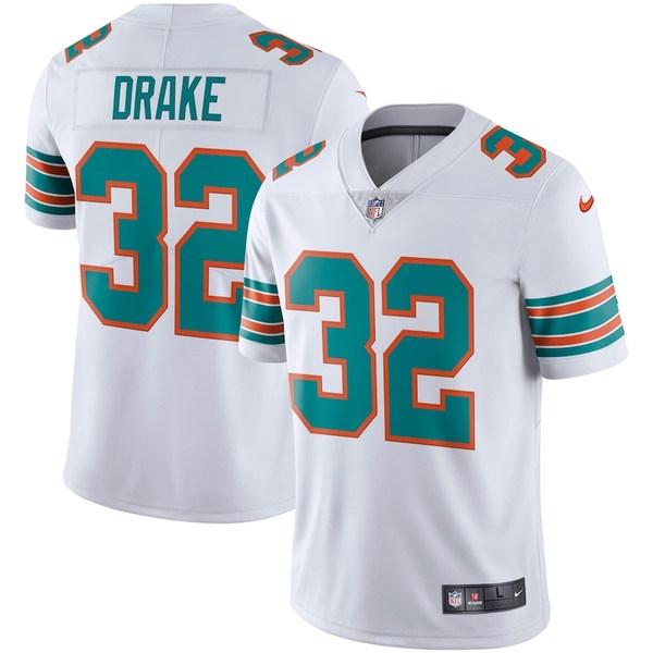 ナイキ メンズ シャツ トップス Kenyan Drake Miami Dolphins Nike Alternate Vapor Limited Jersey White