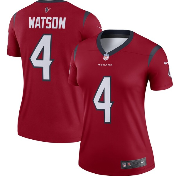 ナイキ レディース シャツ トップス Deshaun Watson Houston Texans Nike Women's Legend Player Jersey Red