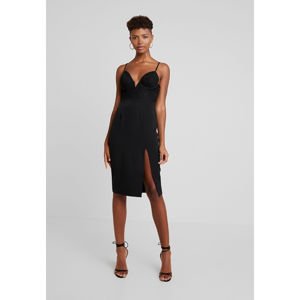 <title>フォース アンド レックス レディース バーゲンセール トップス ワンピース black 全商品無料サイズ交換 PORTER CUPPED MIDI DRESS WITH SIDE SPLIT - Cocktail dress Party dfnv0211</title>