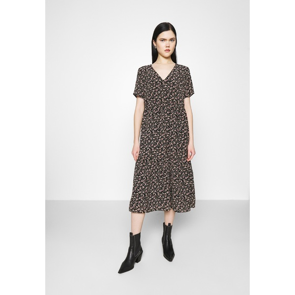 ヴィラ レディース トップス ワンピース black 全商品無料サイズ交換 VIMAY 大人気 Day 美品 dfnv0212 dress DRESS -