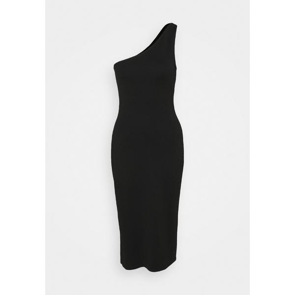 ヌー イン レディース トップス 期間限定お試し価格 ワンピース black 全商品無料サイズ交換 ONE dfnv0216 MIDI 大幅にプライスダウン - SHOULDER Day DRESS dress